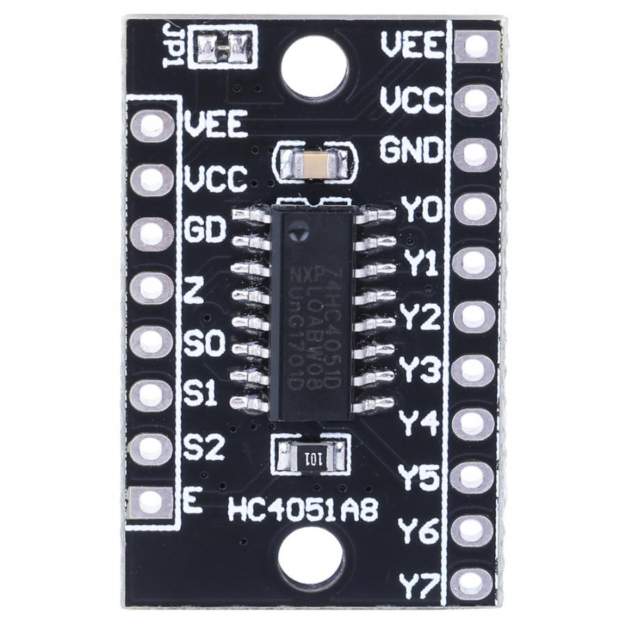 Módulo de demultiplexor multiplexor analógico HC4051A8 8ch Módulo de interruptor 74HC4051 placa