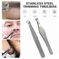 stainless steel universal nose hair trimming tweezers round tip eyebrow tweezer perfectly nose hair removal tweezers