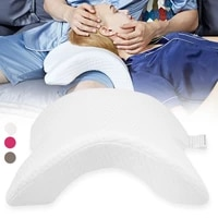 arch u shaped curved memory foam pillow arm rest hand leg pillow hollow design for couples side sleepers neck cervical pillow