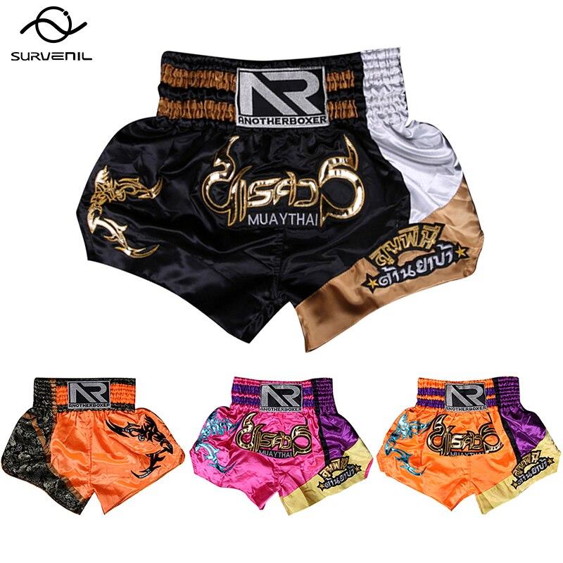 Muay thai boxing shorts 2020 nova mulher bordado muaythai troncos treinamento masculino combate mma luta shorts sanda roupas crianças