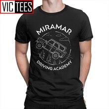 Drôle PUBG Miramar conduite académie hommes T-Shirts col rond T-Shirts 100% coton T-Shirts hommes