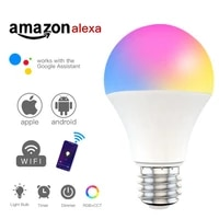 E27 B22 Smart Bulb 15W WiFi LED Light Lamp Color Changing RGB   White Dimmable Timer Function Work with Alexa Google Home