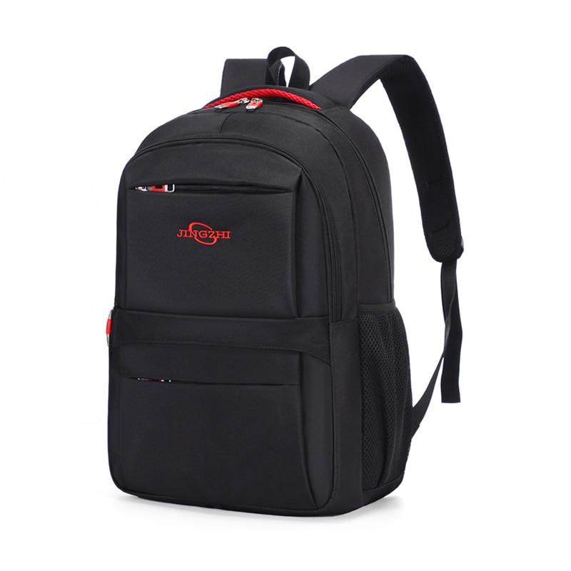 21L Large Capacity Business Man Backpack Black 15.6-inch Laptop Backpack for Men College Student Zip