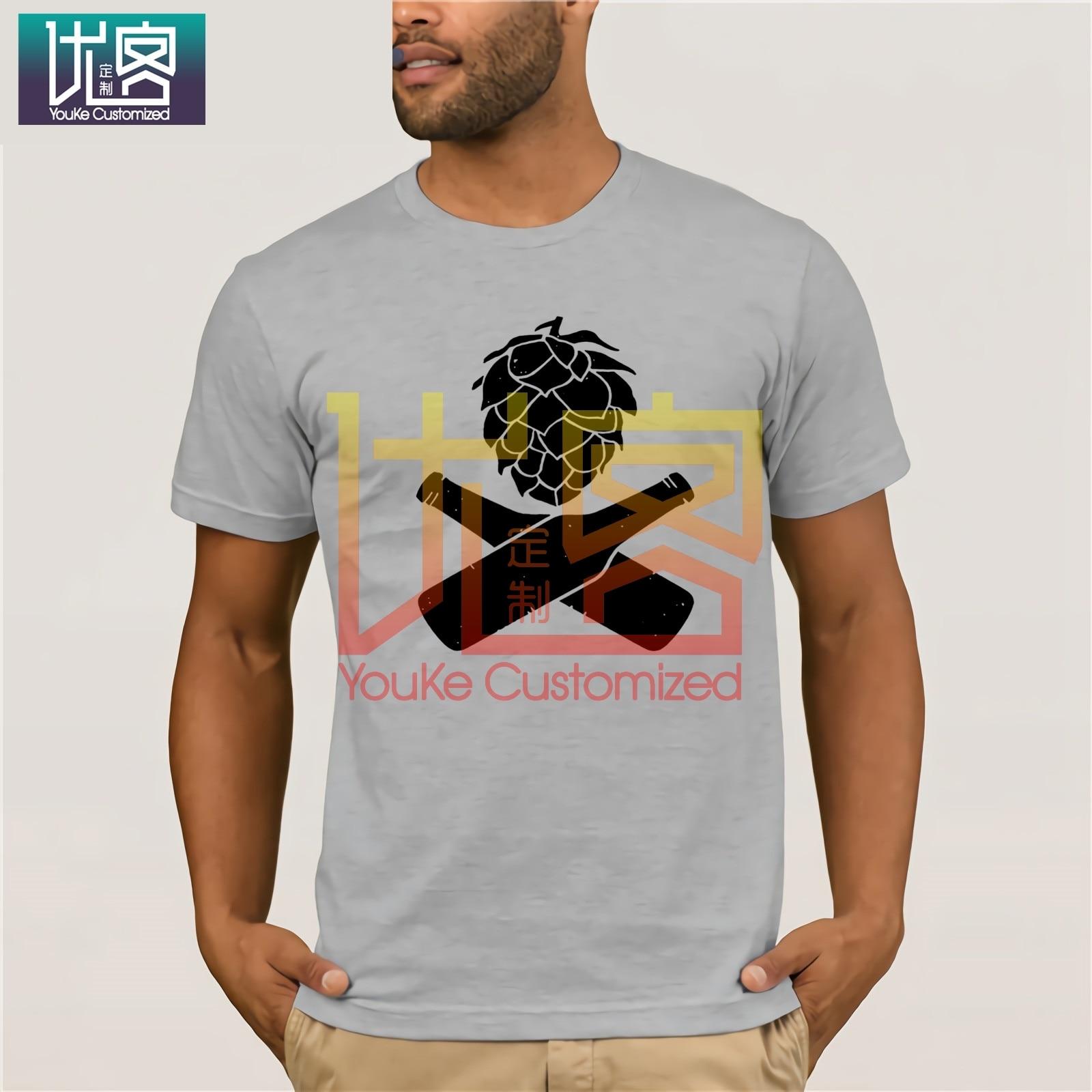 Houblon bière t-shirt artisanat bouteilles de bière Logo microbrasserie maison chemises de brassage Ipa Pale Ale drôle bière shirtmanmec t-shirts