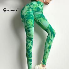 CHRLEISURE Nahtlose Gedruckt Yoga Hosen Sexy Tie Dye Sport Leggings Hohe Taille Frauen Gym Legging Push-Up Schlank Stretch-Hose