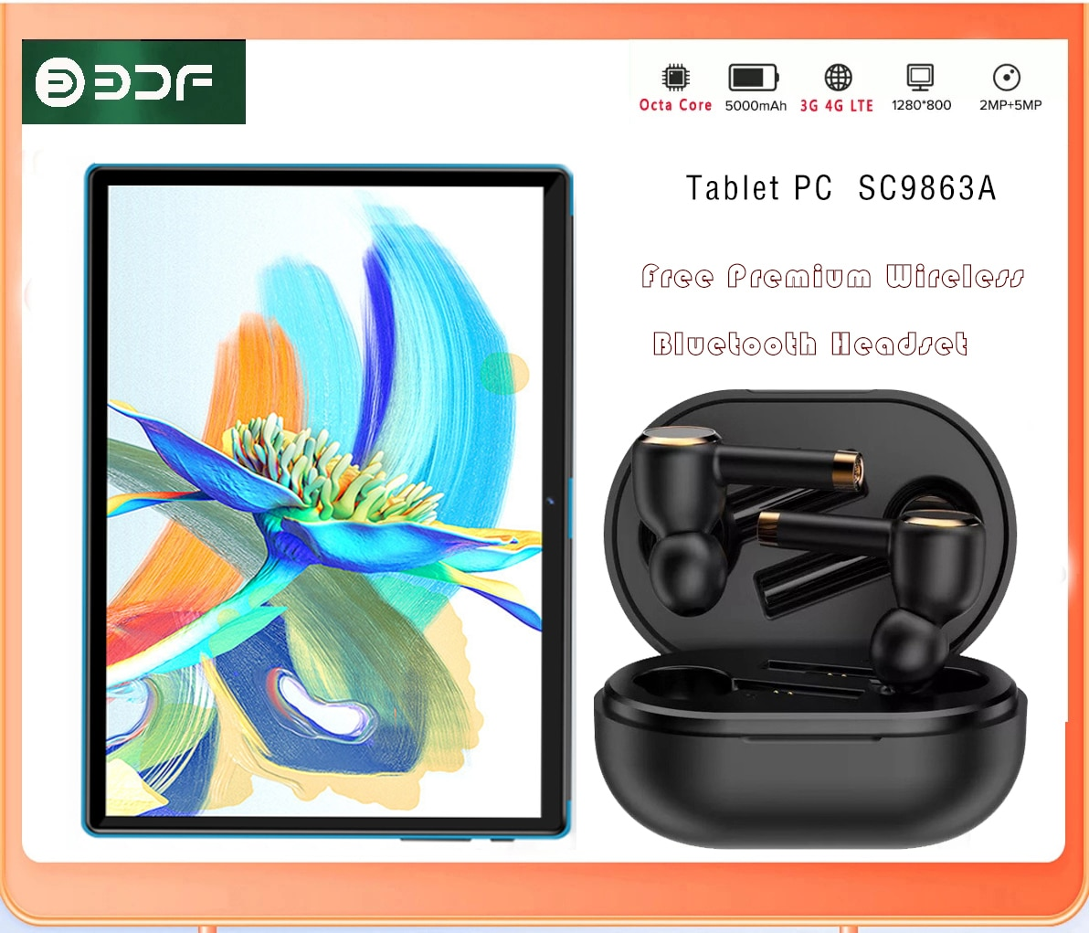 Buy 64GB 】10.1 inch Tablet PC Octa Core 4G Phone Call Android  4G Dual SIM Card Tablets 4GB+32GB ROM Bluetooth Wi-Fi Tablet