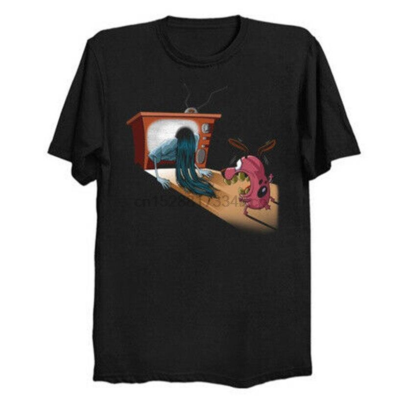 Camiseta negra divertida del perro y de Samara del anillo con el último estilo DE LA S-3Xl de patiel Bagge