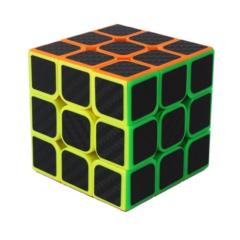 yuxin 3x3 magic cube preto adesivo de carbono 3x3x3 suave magic cube velocidade profissional