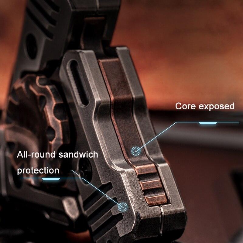 AMMO Design Cyberpunk Sonic Mecha Fingertip Gyro EDC Adult Decompression Toy Fidget Spinner enlarge