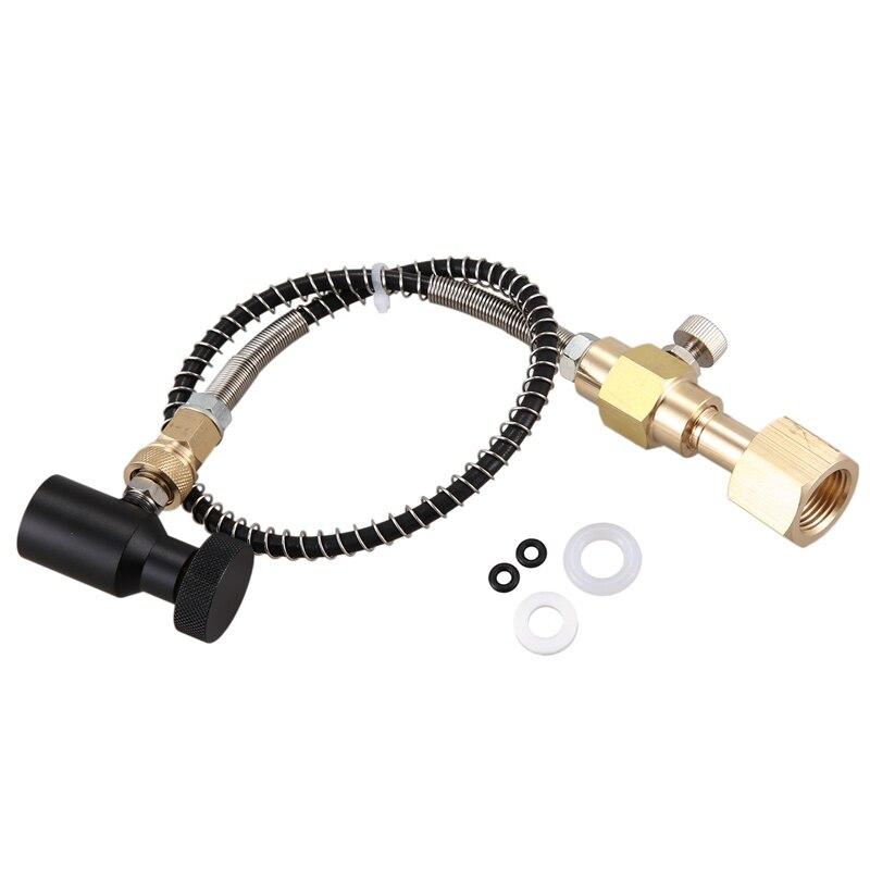 صودا كلوب-محول إعادة تعبئة اسطوانة Co2 ، اتصال CGA320 بخرطوم تقوية ومحول تشغيل/إيقاف