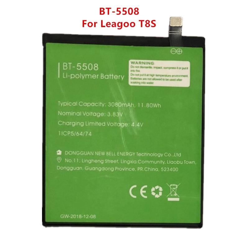 100% Original Backup BT-5508 Leagoo T8S Battery 3080mAh For Leagoo T8s Smart Mobile Phone BT-5508 недорого