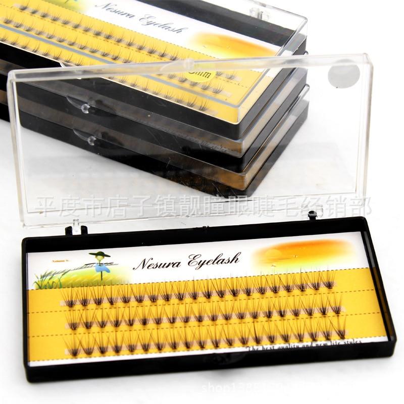 Pestañas postizas de fibra pura hechas a mano de moda, 60 uds., pestañas postizas con volumen de 0,07c, para inserción Personal, pestañas postizas con envío gratis