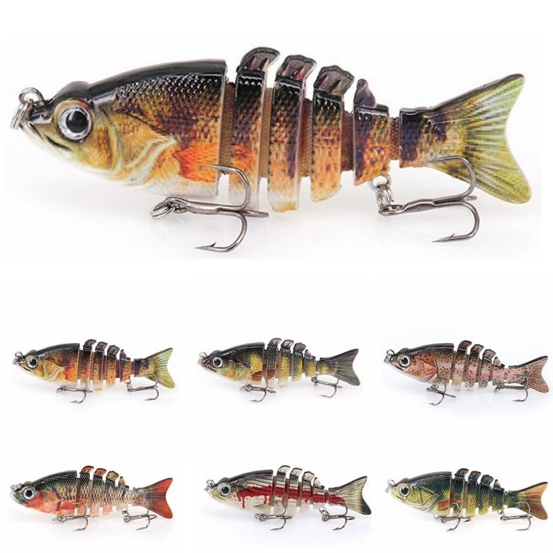 8,4 cm 11g Multi articulado cebo duro realista Swimbait Crankbait pesca Wobblers Artificial 6 segmentos pesca señuelo aparejo