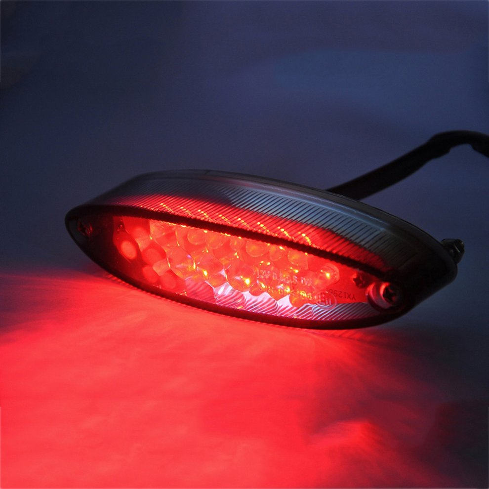 2018 universal motocicleta led luz da cauda indicador de freio lâmpada traseira moto modificado acessórios luz decorativa