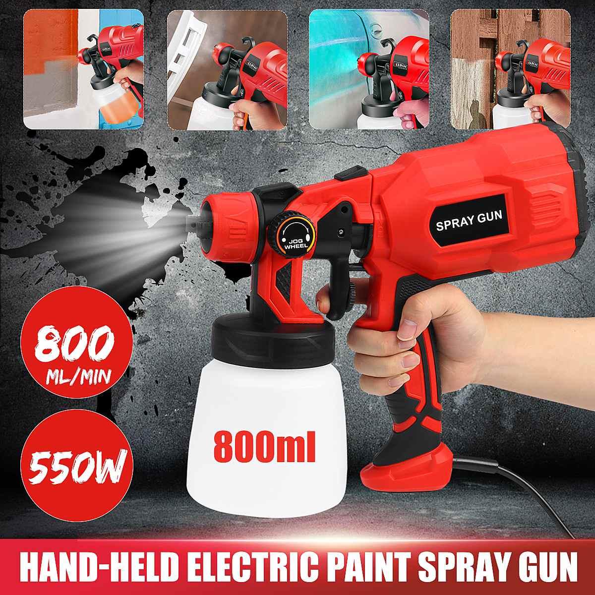 1.8mm 550 w pistola de pulverizador pintura 220 v 800 ml de alta potência pistolas para pintura limpeza pesticidas hvlp pulverizador elétrico pintura pulverização