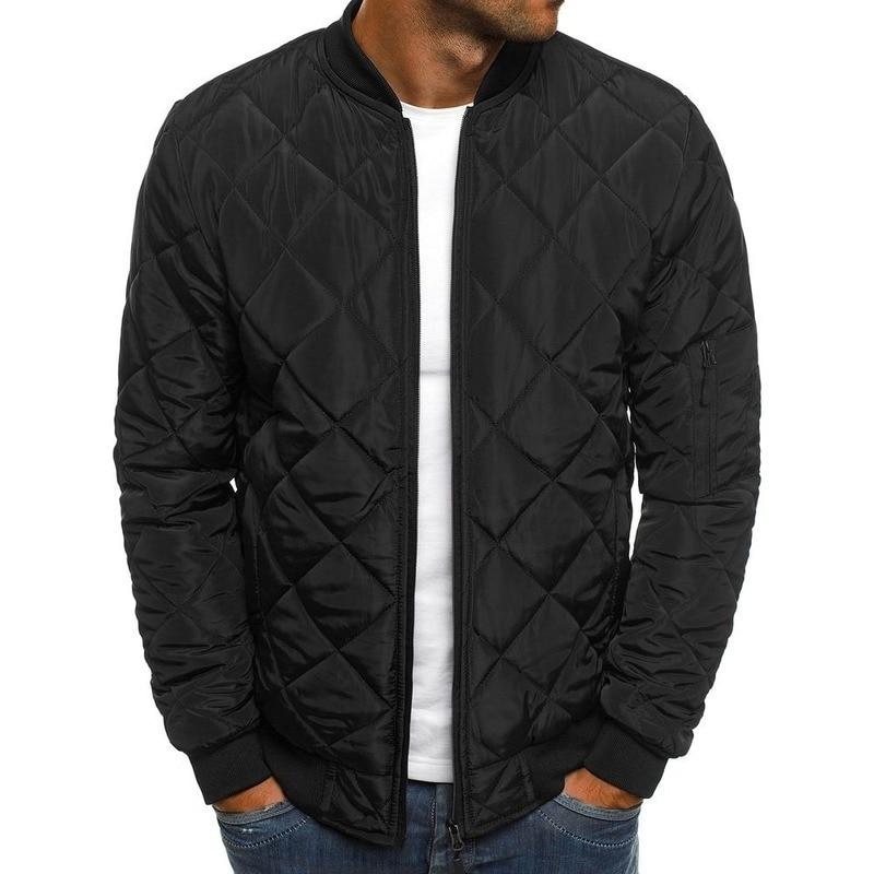 Quality Slim Fit Warm Men Parka Jacket Autumn Winter Men's Lightweight Windproof Packable Jacket Solid Jackets Outwear New Coat