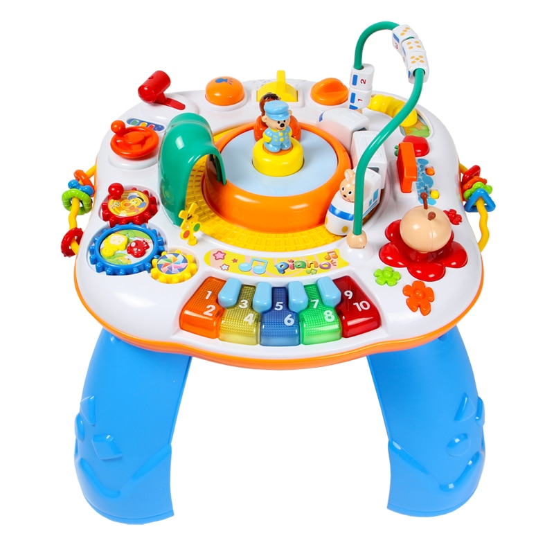 Letter Train And Piano Activity Table Musical Baby Learning Discovering Desk