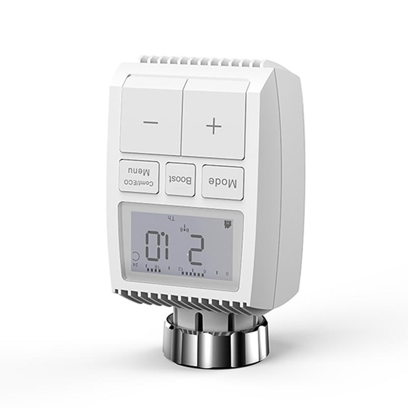 1 قطعة Tuya زيجبي 3.0 مصغرة الذكية المبرد المحرك منظم حرارة قابل للبرمجة سخان متحكم في درجة الحرارة دعم اليكسا