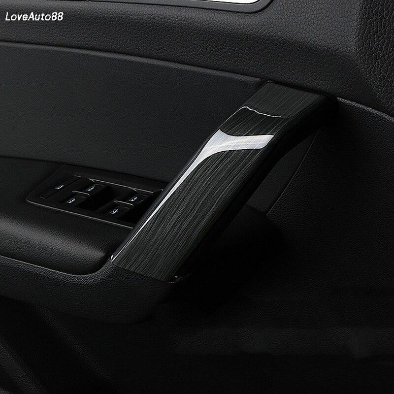 4PCS/set Inner Door Panel Handle Car Pull Trim Cover Sticker For VW Volkswagen Touran 2017 2018 2019 Car Accessories