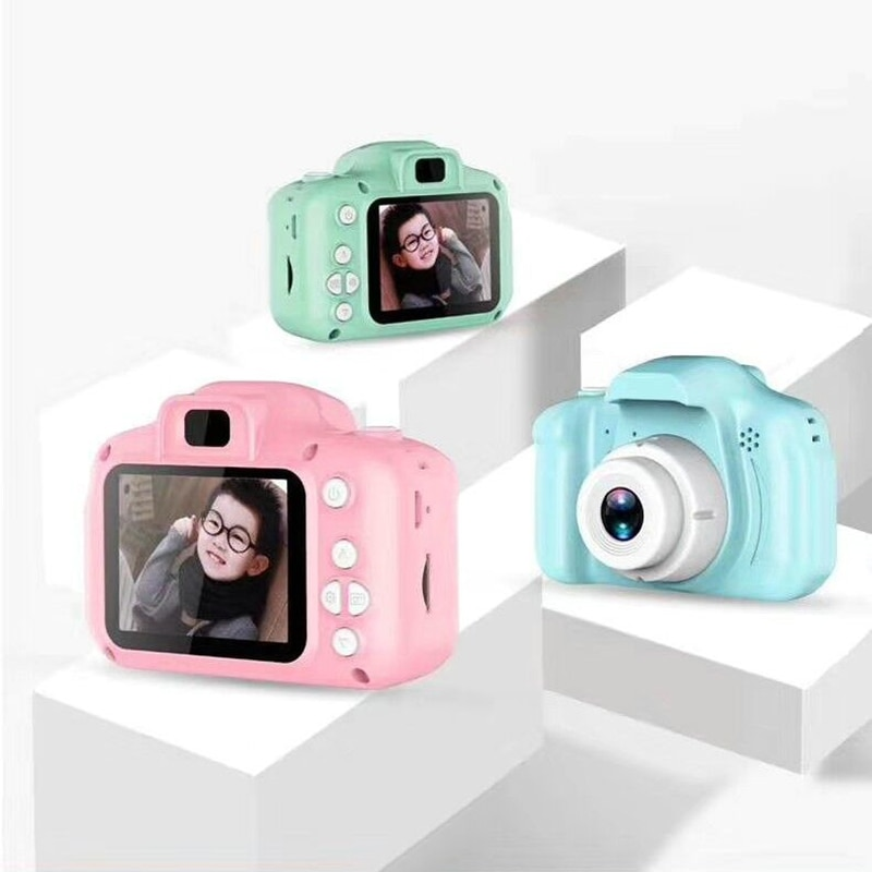 2.0 Inch Children Mini Cute Digital Camera Take Picture Camera 1080P Children Toys Video Recorder Camcorder Christmas Gift