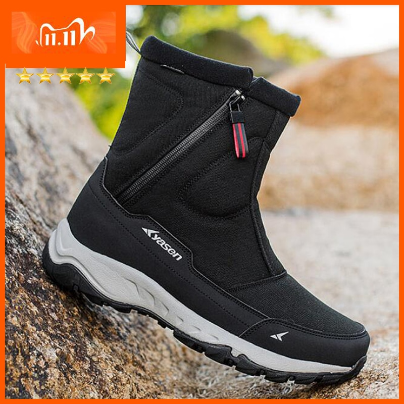 kids winter snow boots boys girls mid calf slip resistant children s rubber boots plush warm outdoor casual shoes size 24 39 Men Boots 2020 Winter Shoes men Warm Snow Boots Mid-calf Men Winter Shoes Thick Plush 30% Wool Winter Boots Non-slip