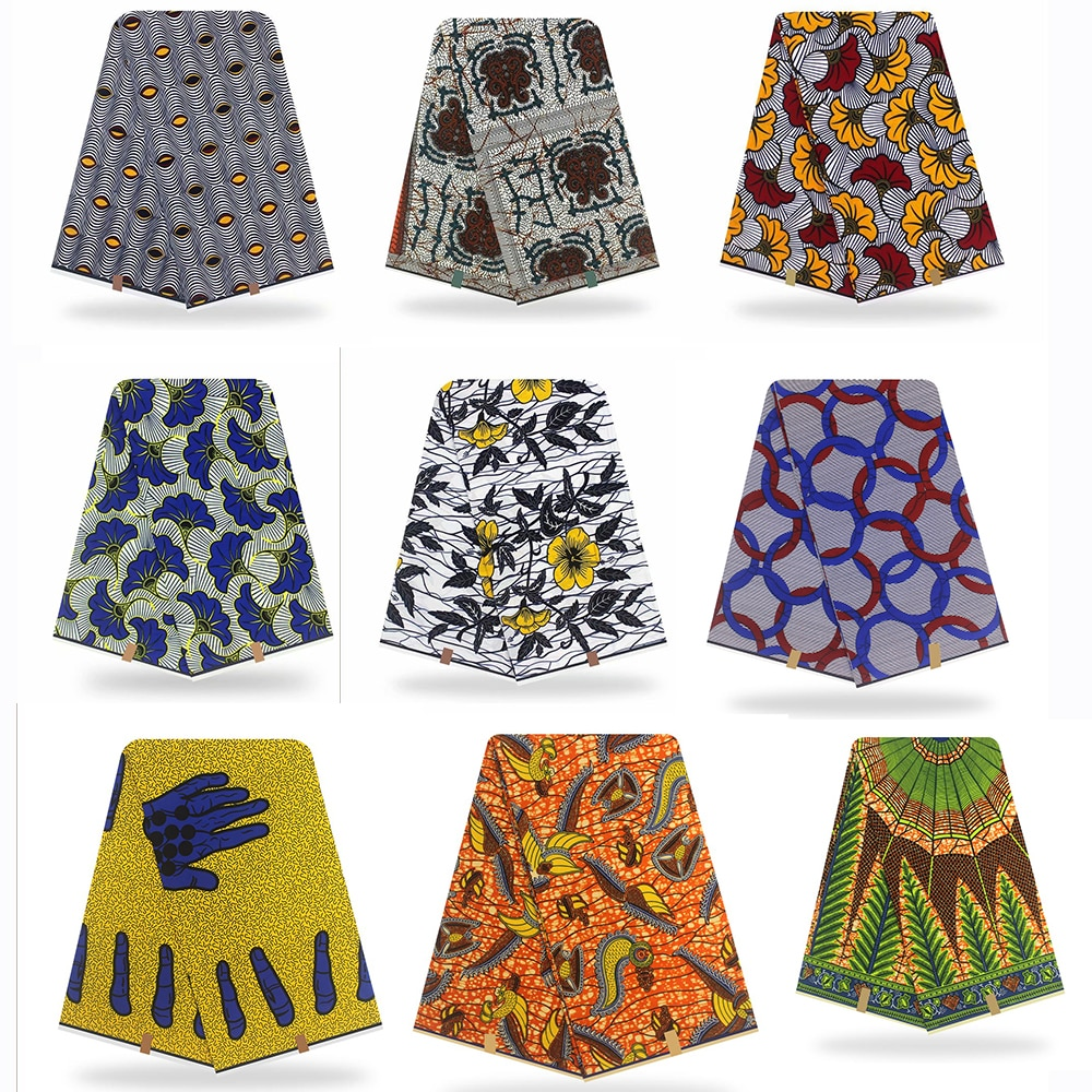 African Fabric Wax Print Ankara Wax High Quality Pagne Real Wax Cotton 6yards African Ankara dresses fabric