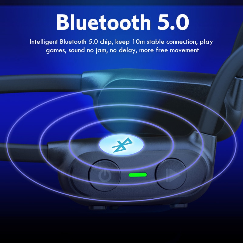 Headphones Bluetooth Wireless Sport Earrings IP56 Headset Stereo Handsfree with Microphone For Running enlarge