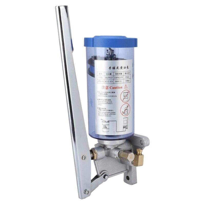 Bomba de lubricación Manual de LSG-05, bomba de grasa lubricante Manual, salida de 6mm/bomba de aceite lubricante de 500cc/descuento en bomba de aceite grueso