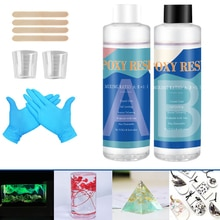 Epoxy Resin Kit Crystal Clear Hardener Kit Easy Mix DIY Supplies For Art Casting Resin Jewelry Projects Free  Adhesives & Sealer
