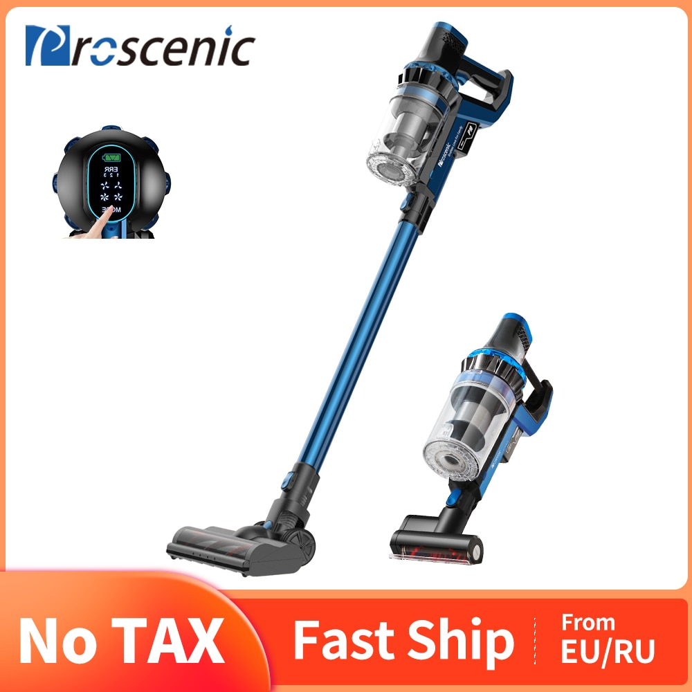 Proscenic P10 Cordless Vacuum Cleaner, 22000Pa Powerful Suction, LED Touch Screen, wireless Handheld vacuum for home