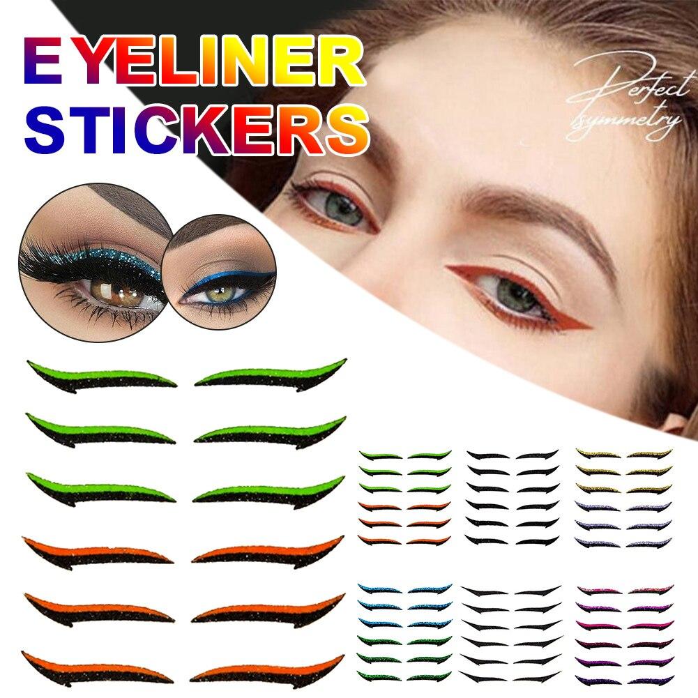Фото - 6 стилей Φ легкая подводка для глаз, лента для макияжа, косметический инструмент для макияжа, очень подходит для новичков косметический инструмент для макияжа