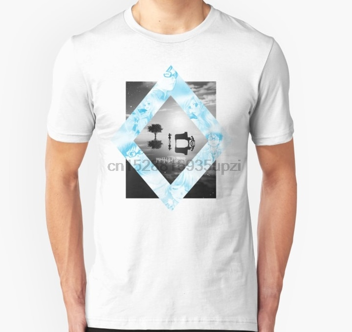 Camiseta para hombre Shigatsu wa Kimi no Uso Kousei x Kaori empapelado Unisex camiseta para mujer camiseta camisetas top