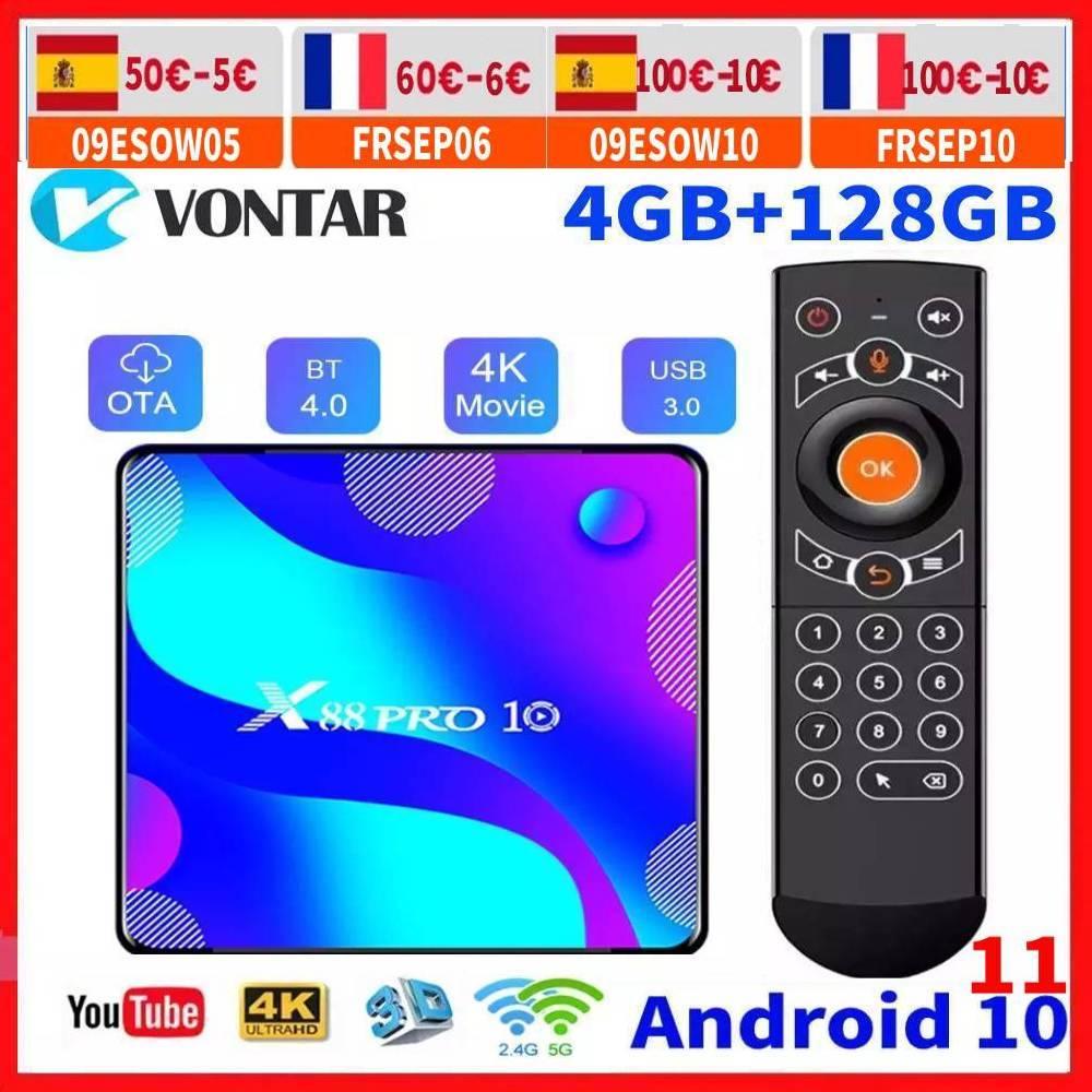 Vontar Android 11.0 Smart TV Box RK3318 Android 10 TVBOX Media Player Max 4GB RAM 128GB ROM Google Youtube 4K Set Top Box 2G16G