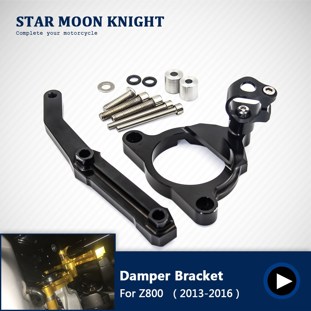 Amortiguador de dirección soporte de montaje Kit de soporte para Kawasaki Z800 Z 800 2013 2014 2015 2016 accesorios de motocicleta soporte de piezas