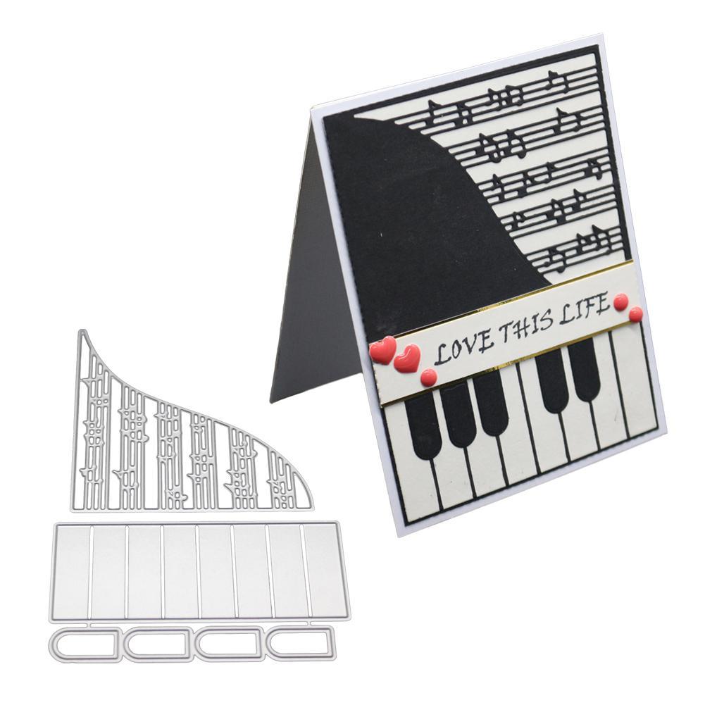 Troqueles de corte de Metal de Piano de música para plantillas para libro de recortes DIY álbum de papel confección de tarjetas carpetas en relieve molde troquelado