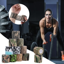 Outdoor Camouflage Bandage Hunting Protective Wrap Non-woven Self Adhesive Tape Sports Protector Ank