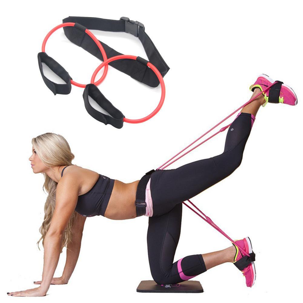 Bandas de resistencia de cadera delgada, ejercitador de Pedal de látex, estiramiento de cadera, cuerda elástica, expansor, bandas elásticas, equipo para ejercicios de Yoga Pilates