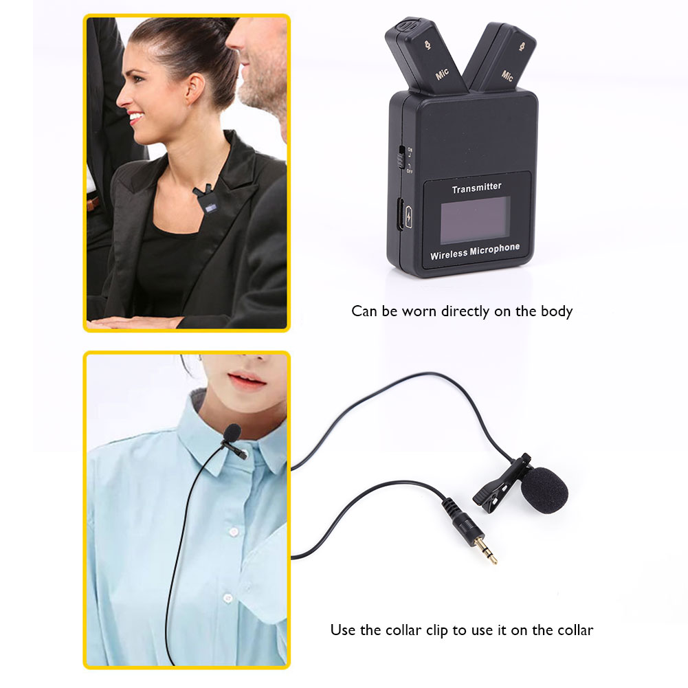 Wireless Lavalier Microphone System 2.4GHz Wireless Clip-on Mic for IPhone Android Phone  Real-time Audio Monitor Accessories enlarge