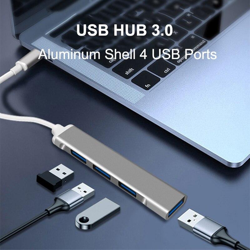 Concentrador de red USB tipo C a Multi USB 3,0, adaptador divisor...