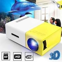 Mini projecteur de poche LCD 400     600 Lumen  1080P  AV  USB  carte SD  pour Home cinema  bureau  education des enfants