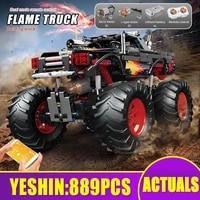 mould king app rc motorized flame climbing truck model high tech car toys assembly building blocks bricks kids christmas gifts