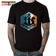 Camiseta échecs rétro T-shirt homme Vintage jeu déchecs T-shirt hommes en détresse jeu déchecs T-shirt 2020 idée conception vestido hauts T-shirt