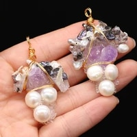 new style pendant natural freshwater pearl irregular winding stone for jewelry making diy necklace bracelet accessory