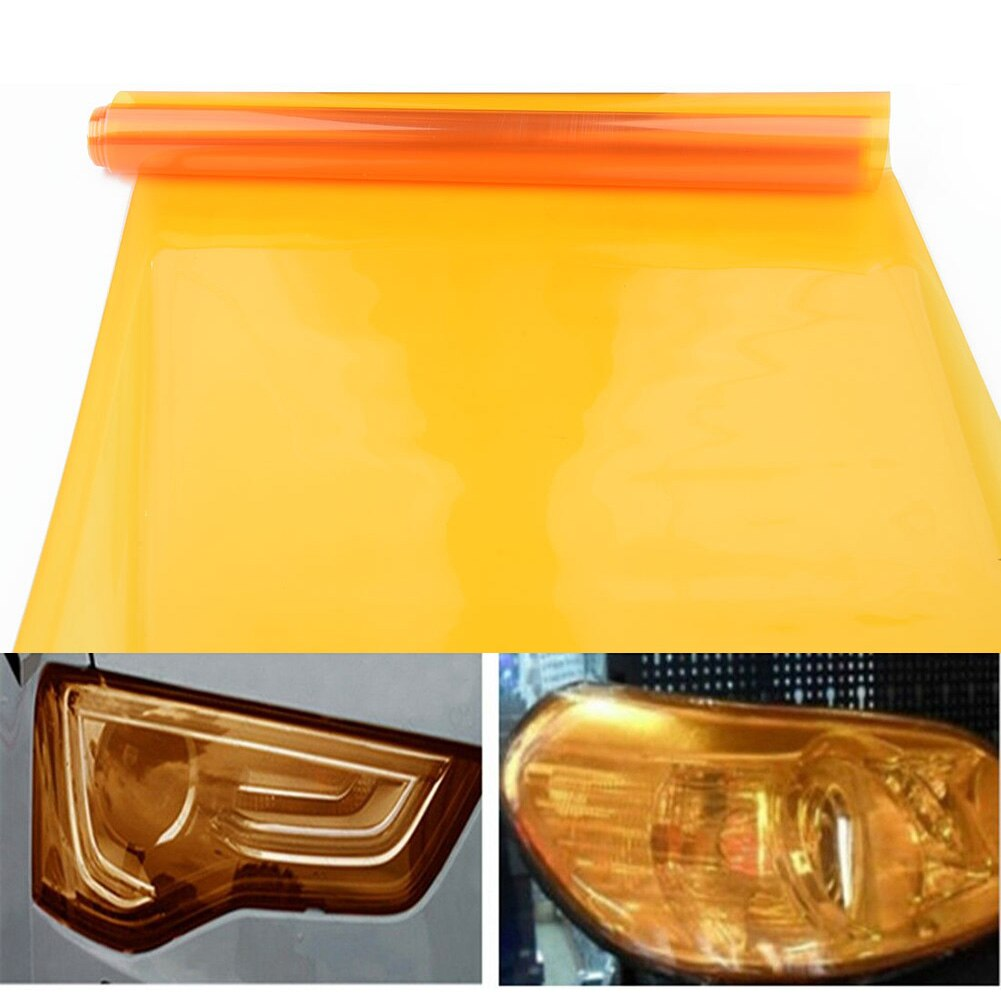 Lamp Car light film Accessories 12 x 48inch Amber Orange Tint Fog Sticker