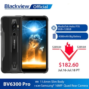 BLACKVIEW 2020 Новый BV6300 Pro Helio P70 6 ГБ + 128 Гб Смартфон 4380 мАч Android 10,0 мобильный телефон NFC IP68 Водонепроницаемый прочный телефон