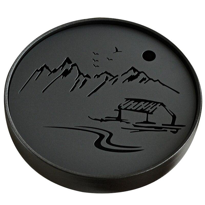 صينية سيراميك معدنية لمياه الصرف الصحي ، مجموعة شاي الكونغ فو ، طاولة طاولة ، كوب شاي صيني أسود ، حفل