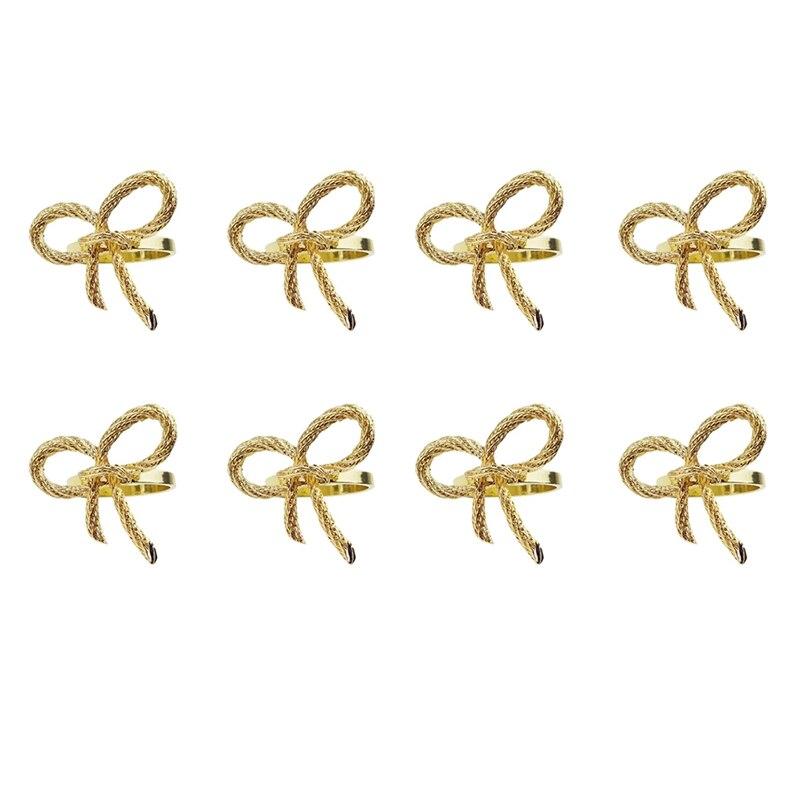 حلقات منديل 8 قطعة حلقات منديل لحفلات العشاء ، ديكور المنزل أدوات المائدة الطرف