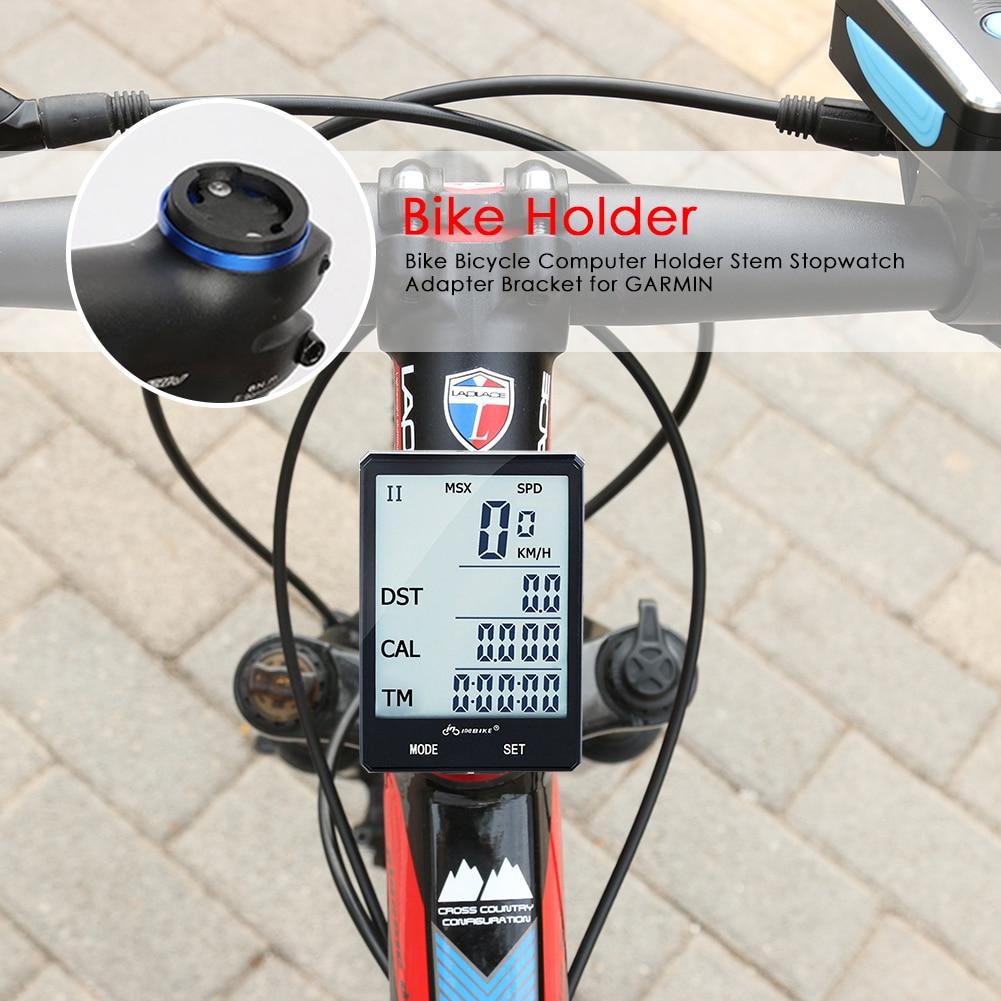 Bicicleta ordenador base fija extensión bicicleta ciclismo odómetro cronómetro velocímetro soporte de...