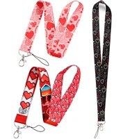 fd0781 love cute key chain lanyard neck strap for phone keys id card cartoon lanyards keyholder gifts