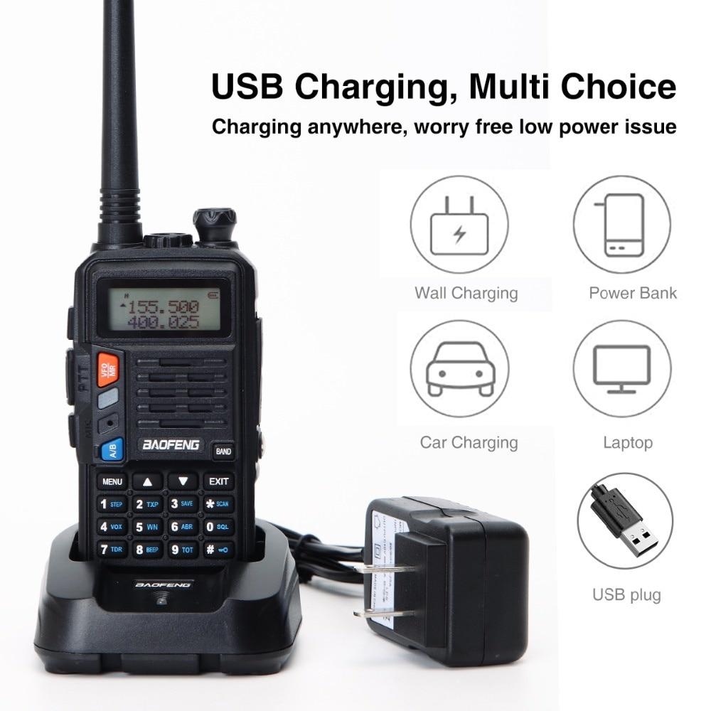 2PCS BaoFeng UV-S9 PLUS Walkie Talkie 10W Powerful CB Radio Transceiver Long Range Portable Two Way Radio set for hunting travel enlarge